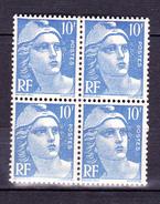 N° 723  Marianne De Gandon 4,50f Bleu: Bloc De 4  Timbres Neuf Impeccable Neuf Sans Charnière - France