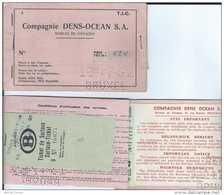 Compagnie Dens-Ocean SA - Bureau De Voyage - Deutsche Bundesbahn - Chemins De Fer Allemands - Dusseldorf - 1952 - Chemins De Fer