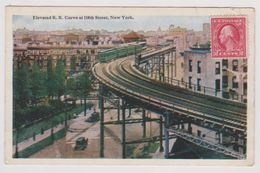 NEW YORK - Elevated R.R. Curve At 110th Street - Ponts & Tunnels