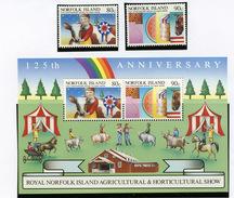 1985 - NORFOLK ISLAND - Mi. Nr. 371/372+ BL 8 - NH -  (UP.70.5) - Isola Norfolk
