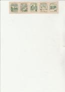 BANDE DE 5 VIGNETTES EXPO DU MONDE EN MINIATURE - LYON OCTOBRE - NOVEMBRE 1935 - Commemorative Labels