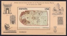 2000, Spanien, 3555 Block 85  Kartographischen Erfassung Der Ostküste Nordamerikas,  MNH ** - Blokken & Velletjes