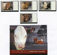 2009 - NORFOLK ISLAND - Mi. Nr. 1055/1058 + BL 56 - NH -  (UP.70.6) - Isola Norfolk