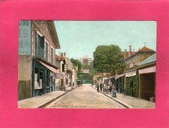 33 Gironde, Arcachon, Rue Du Casino, Animée, Commerces, Colorisée, (L. V.) - Arcachon