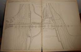 Plan D'ensemble Du Viaduc De La Fure. Chemin De Fer De Saint Rambert à Grenoble. 1856. - Public Works