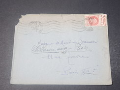 FRANCE - Type Pétain Avec Bande Pub Sur Enveloppe De Toulouse Pour Paris En 1943 - L 10783 - Advertising