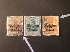 Deutschland Allemagne Germany GERMANIA III REICH  OCCUPAZIONI TEDESCHE IN BELGIO 1914-1916 SERIE ALLEGORIA SURCHARGE - Zona Belga