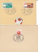 FUSSBALL-FOOTBALL-SOCCER- CALCIO-SPORT, GERMANY 1974, Special Cover / Stamps / Postmark !! - Coppa Del Mondo