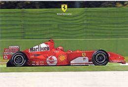 Grand Prix   -  Michael Schumacher  -  F1 Champion Du Monde 7 Fois  Avec Ferrari   -  Carte Postale - Grand Prix / F1