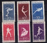 RO 645 - ROUMANIE N° 1720/25 Neufs** J.O. 1960 - Neufs