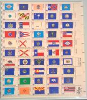 Stati Uniti 1976 200th Anniversary Revolution Unif.1384/433 Compete Sheet **/MNH VF - Ganze Bögen