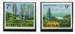 1966 - NORFOLK ISLAND - Mi. Nr.  74/75 - NH -  (UP.70.6) - Isola Norfolk