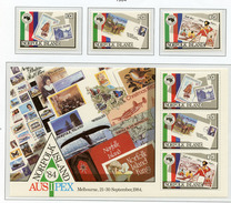 1984 - NORFOLK ISLAND - Mi. Nr.  344/346 + BL 6 - NH -  (UP.70.6) - Isola Norfolk