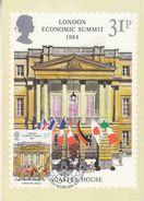 Great Britain 1984 London Economic Summit 1v Maxicard (37232) - Maximumkaarten