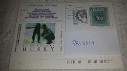 1993 HUSKY 2000 Cartolina Postale £ 700 Usata Usato Used - 6. 1946-.. Repubblica