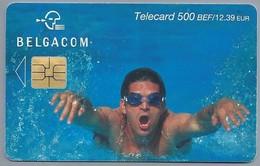 BE.- België. Telecard.- BELGACOM. . - ZWEMMEN - 500 BEF. 12,39 EUR. - PH 089803 - Belgique