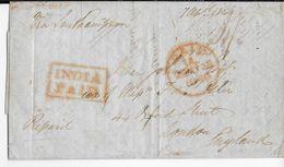 INDIA - 1846 - LETTRE De CALCUTTA  => LONDON (GB) - ...-1852 Prephilately