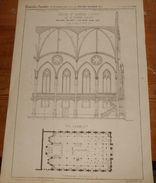 Plan De L'église Saint Eugène à Paris. 1856. - Public Works