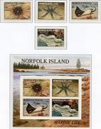 1986 - NORFOLK ISLAND - Mi. Nr.  377/380 + BL 9 - NH -  (UP.70.7) - Isola Norfolk
