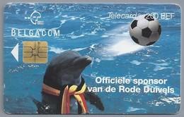 BE.- België. Telecard.- BELGACOM. . - Officiële Sponsor Van De Rode Duivels. Voetbal. Dolfijn - 200 BEF. - FK 188493 - België