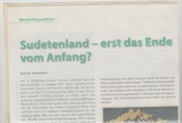 Literatur 107 / Sudetenland Geschichte Und Philatelie. 3 DIN A 4 Seiten  Mit Diversen Abbildungen - Philately And Postal History