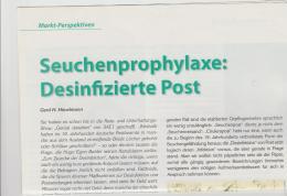 Literatur 104 / Seuchenpost, Internatioal. Von Den Anfängen Bis In Die Neuzeit. 3 DIN A 4 Seiten M. Abbildungen - Philately And Postal History