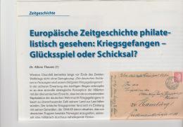 Literatur 102 / II. Weltkrieg, Kriegsgefangene In Europa. 3 DIN A 4 Seiten Mit Div. Abbildungen - Military Mail And Military History