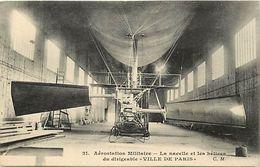 - Themes Div- Ref V461- Transports -aviation -aerostation -ballon - Dirigeables - Dirigeable Ville De Paris * - - Zeppeline