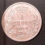 SERBIA 1 DINARO 1912 ARGENTO 835/1000- QUALITA' BB - Serbia
