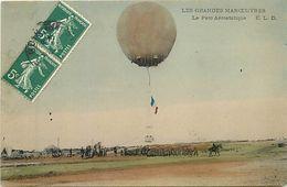 - Themes Div- Ref V494- Transports -aviation -aerostation -ballons -ballon -montgolfiere -grandes Manoeuvres  - - Montgolfières