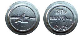 00091  GETTONE JETON TOKEN MACHINE AMUSEMENT LEISURE A.L. EUROCOIN TOKEN 20P - Unclassified