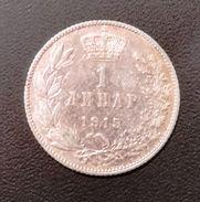 SERBIA 1 DINARO 1915 ARGENTO 835/1000- QUALITA' SPL - CON FIRMA INCISORE - Serbia