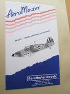 Planche De Décals Additionnels AEROMASTER 1/48e N° 48-079 HAWKER HURRICANE BATAILLE D'ANGLETERRE   , Complète Et Non Com - Airplanes