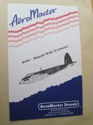 Planche De Décals Additionnels AEROMASTER 1/48e N° 48-043 DE HAVILLAND MOSQUITO   , Complète Et Non Commencée - Airplanes