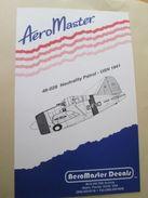 Planche De Décals Additionnels AEROMASTER 1/48e N° 48-028  US NAVY NEUTRALITY PATROL 1941   , Complète Et Non Commencée - Airplanes