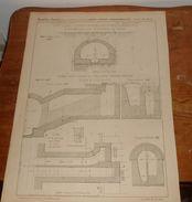 Plan De L'égout Galerie Du Boulevard De Sébastopol. 1856. - Public Works