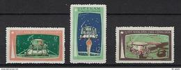 "Viet-Nord YT 731 à 733 "" Luna 17 "" 1971 Neuf** - Viêt-Nam"