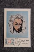 Carte Postale Premier Jour : BLAISE PASCAL - 26 MAI 1962 - Personnages Historiques