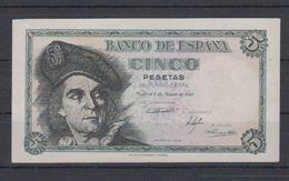 EDIFIL 455.- 5 PTAS 5 DE MARZO DE 1948.-   JUAN SEBASTIÁN EL CANO SERIE H SIN CIRCULAR - 5 Pesetas