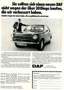 Original-Werbung/ Anzeige 1969 - DAF 55 COUPÉ -  Ca. 160 X 230 Mm - Werbung