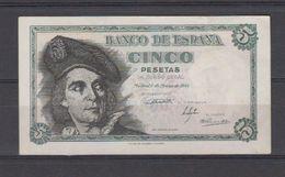 EDIFIL 455.- 5 PTAS 5 DE MARZO DE 1948.-   JUAN SEBASTIÁN EL CANO SERIE I CONSERVACIÓN MBC+ - 5 Pesetas