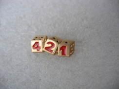 Pin's DECAT,  Jeu Populaire 421, 3 Dés - Games