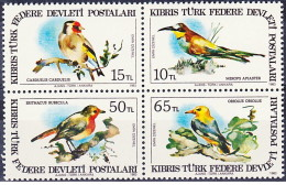 Cipro Turca - 1983 - Nuovo/new MNH - Uccelli - Mi N. 134/37 - Ongebruikt