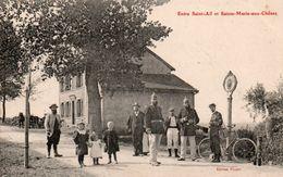 57-FRONTIERE-ENTRE SAINT AIL  ET SAINTE MARIE AUX CHENES- - France