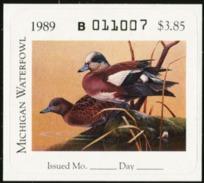MICHIGAN 1989 USA State Ducks Birds Hunting Wildlife Fauna MNH - United States