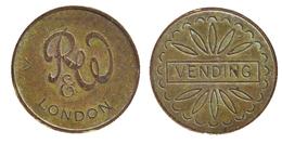 00658 GETTONE TOKEN JETON FICHA VENDING MACHINE RUFFLER & WALKER LONDON - Unclassified