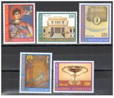 Grecia - 1997 - Nuovo/new MNH - Cultura - Mi N. 1937/41 - Ongebruikt