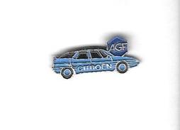 Pin's  Banque, Assurances  A G F  Avec  Automobile  Citroën  Bleu - Banks