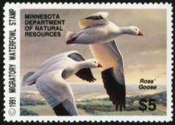 MINNESOTA 1991 USA State Ducks Birds Hunting Wildlife Fauna MNH - United States