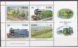 Irlanda - 1984 - Nuovo/new MNH - Treni - Mi Block N. 5 - 1949-... Repubblica D'Irlanda